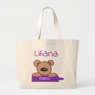 Bolso De Tela Gigante Tote de Teddybear de Liliana