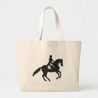 Bolso De Tela Gigante Tote del Dressage - diseño del mosaico del caballo