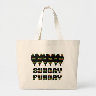 Bolso De Tela Gigante Tote del jumbo de domingo Funday del reggae