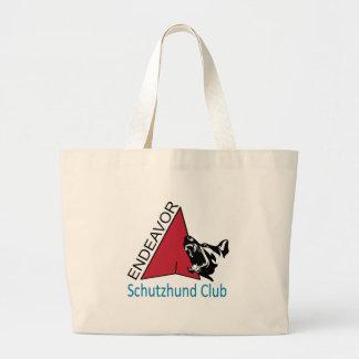 Bolso De Tela Gigante Tote del jumbo del logotipo del club de Schutzhund