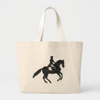 Bolso De Tela Gigante Tote enorme del Dressage - caballo y jinete del