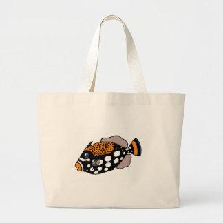 Bolso De Tela Gigante Triggerfish del payaso