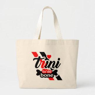 Bolso De Tela Gigante Trini To De Bone