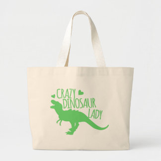Bolso De Tela Gigante tyrannosaur loco de la señora del dinosaurio en