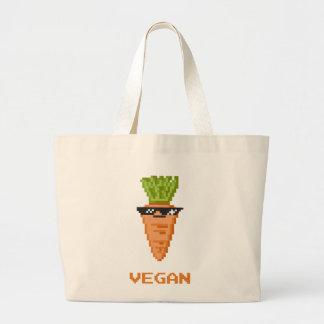 """Bolso De Tela Gigante Vegano """"trato con él"""" zanahoria"""