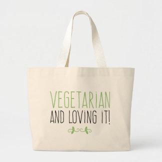 Bolso De Tela Gigante Vegetarian and loving it!