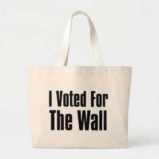 Bolso De Tela Gigante Voté por la pared