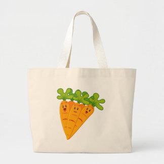 Bolso De Tela Gigante Zanahorias divertidas del jardín