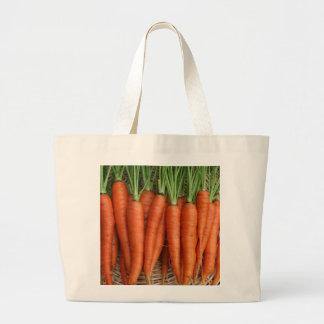 Bolso De Tela Gigante Zanahorias frescas de la herencia del jardín