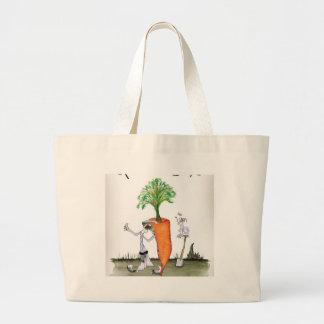 Bolso De Tela Gigante Zanahorias grandes de Yorkshire del amor