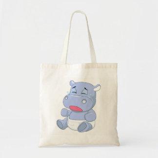 Bolso De Tela Griterío del hipopótamo del bebé
