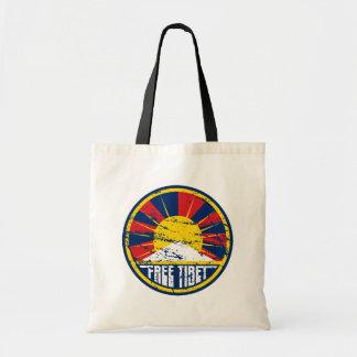 Bolso De Tela Grunge redondo libre de Tíbet