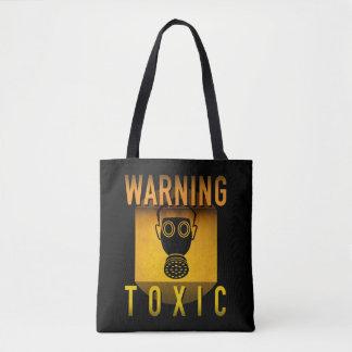 Bolso De Tela Grunge retro amonestador tóxico de la edad atómica
