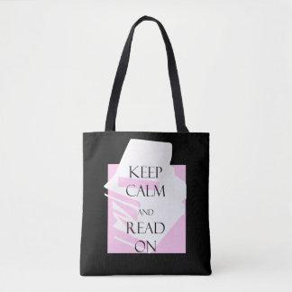 Bolso De Tela Guarde la calma y siga leyendo