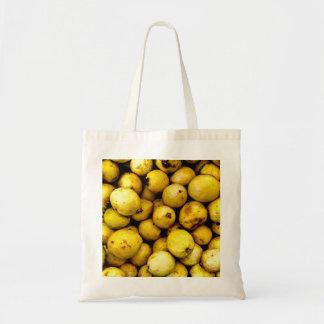 Bolso De Tela Guayaba amarilla
