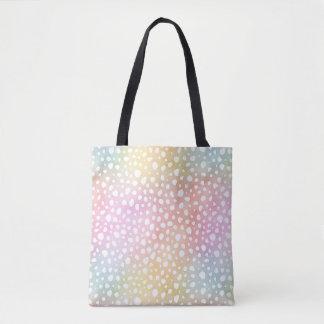 Bolso De Tela Guepardo en colores pastel de la acuarela del arco