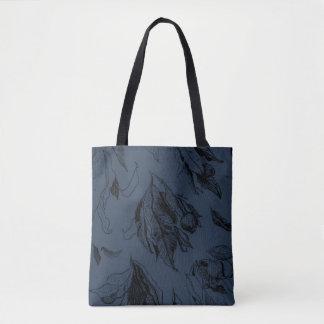 Bolso De Tela Gumleaves - azul y negro