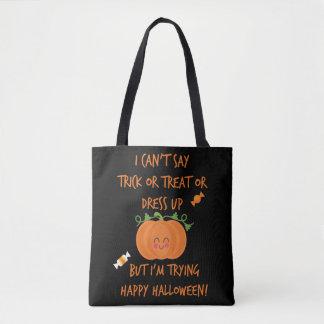 Bolso De Tela Halloween no verbal