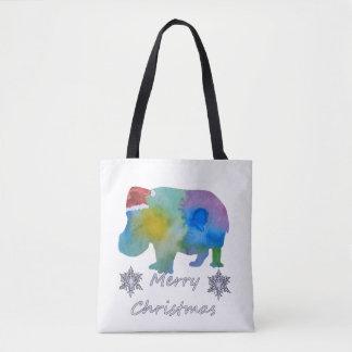 Bolso De Tela Hipopótamo del navidad