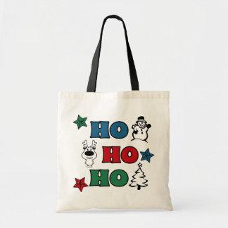 Bolso De Tela Ho-Ho-Ho diseño del navidad