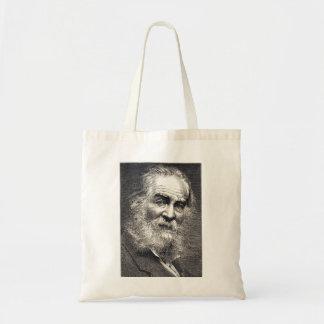 Bolso De Tela Hojas de Walt Whitman del grabado de la hierba