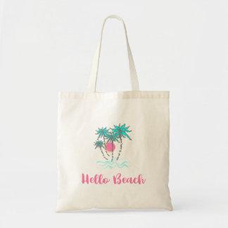 Bolso De Tela Hola diversión tropical del verano del estilo de