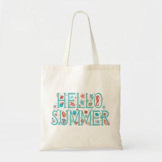 Bolso De Tela Hola verano