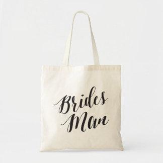 Bolso De Tela Hombre de las novias del tote el | de la escritura