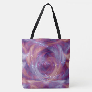 Bolso De Tela Humo de la púrpura de Ho'oponopono