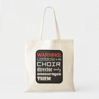 Bolso De Tela Humor de la música del coro