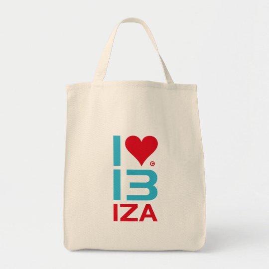 BOLSO DE TELA I LOVE IBIZA
