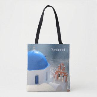 Bolso De Tela Iglesia de Santorini por la tarde Sun