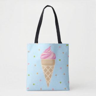 Bolso De Tela Ilustracion del helado del vintage