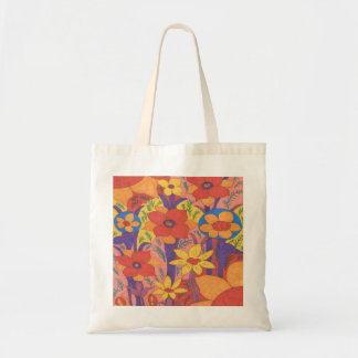 Bolso De Tela Impresión anaranjada bohemia intrépida del jardín