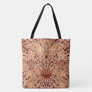 Bolso De Tela Impresión, Brown y beige del jacinto de William