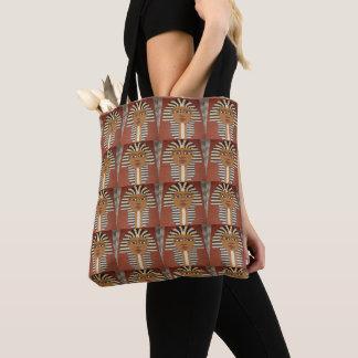 Bolso De Tela Impresión de rey Black Brown Tan Crochet del