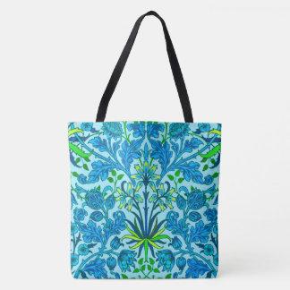 Bolso De Tela Impresión del jacinto de William Morris, azul