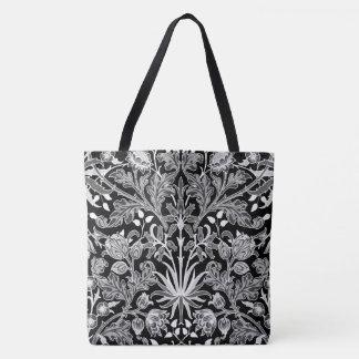 Bolso De Tela Impresión del jacinto de William Morris, blanco y