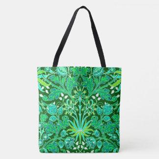 Bolso De Tela Impresión del jacinto de William Morris, verde
