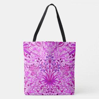 Bolso De Tela Impresión, lavanda y violeta del jacinto de
