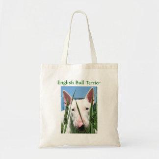 Bolso De Tela Inglés lindo bull terrier