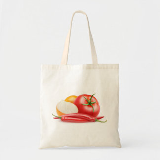Bolso De Tela Ingredientes de la salsa de tomate