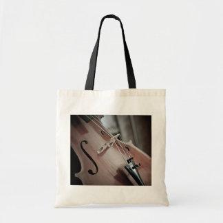 Bolso De Tela Instrumento atado de la música clásica del