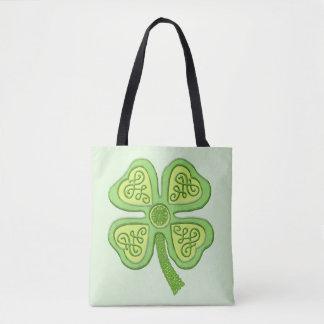 Bolso De Tela Irlandés afortunado céltico Patricks del verde