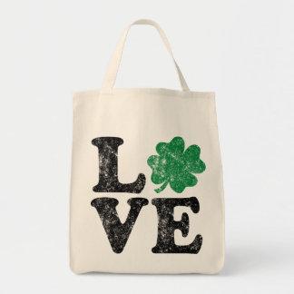 Bolso De Tela Irlandés del trébol del AMOR del día de St Patrick