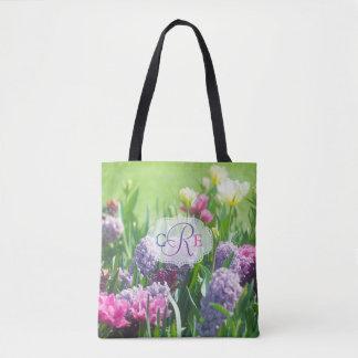Bolso De Tela Jacinto hermoso de los tulipanes del jardín de la