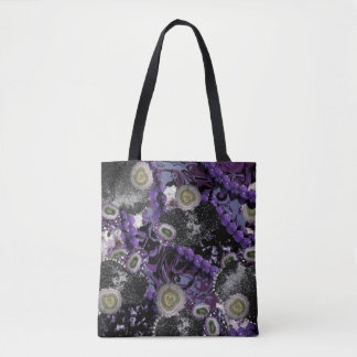 Bolso De Tela Jeweled en púrpura