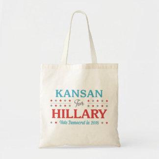 Bolso De Tela Kansan para Hillary