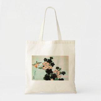 Bolso De Tela Katsushika Hokusai (葛飾北斎) - hibisco y gorrión
