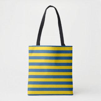 Bolso De Tela La bandera de Suecia Ucrania raya las líneas yel